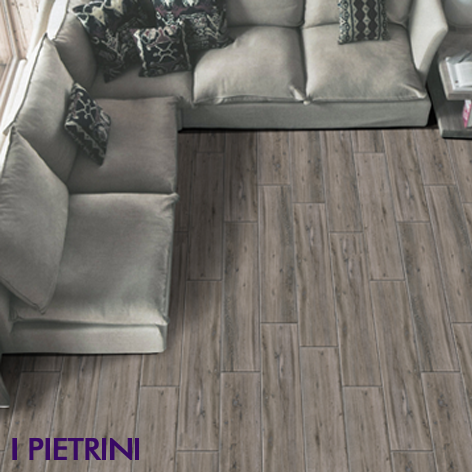 Plank cut ceramics living floor I Pietrini